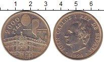 Изображение Монеты Европа Испания 2000 песет 1994 Серебро XF