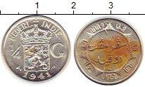 Изображение Монеты Нидерланды Нидерландская Индия 1/4 гульдена 1941 Серебро VF