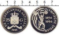 Изображение Монеты Антильские острова 25 гульденов 1995 Серебро Proof-