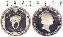 Изображение Монеты Северная Америка Виргинские острова 25 долларов 1988 Серебро Proof-