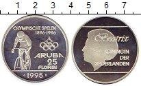 Изображение Монеты Нидерланды Аруба 25 флоринов 1996 Серебро Proof-
