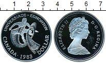 Изображение Монеты Северная Америка Канада 1 доллар 1983 Серебро Proof-