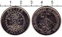 Изображение Монеты Белиз 2 доллара 2011 Медно-никель UNC
