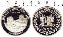 Изображение Монеты Суринам 50 гульдерс 1988 Серебро Proof Олимпиада,Плавание