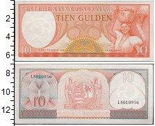 Изображение Банкноты Суринам 10 гульденов 1963  UNC