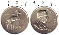 Изображение Монеты Африка ЮАР 1 ранд 1967 Серебро UNC-