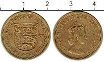 Изображение Монеты Остров Джерси 1/4 шиллинга 1957 Латунь XF