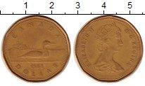 Изображение Монеты Северная Америка Канада 1 доллар 1988 Латунь XF-
