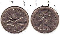 Изображение Монеты Канада 25 центов 1977 Медно-никель XF
