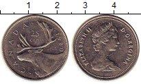 Изображение Монеты Северная Америка Канада 25 центов 1980 Медно-никель XF