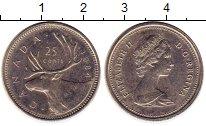 Изображение Монеты Канада 25 центов 1984 Медно-никель XF