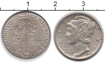 Изображение Монеты Северная Америка США 1 дайм 1944 Серебро XF