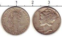 Изображение Монеты Северная Америка США 1 дайм 1943 Серебро XF
