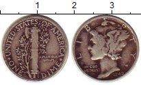 Изображение Монеты США 1 дайм 1942 Серебро XF