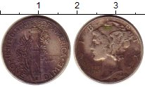 Изображение Монеты США 1 дайм 1940 Серебро VF