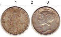 Изображение Монеты Северная Америка США 1 дайм 1942 Серебро VF