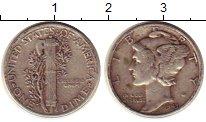 Изображение Монеты Северная Америка США 1 дайм 1943 Серебро VF