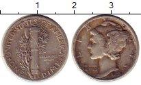 Изображение Монеты Северная Америка США 1 дайм 1939 Серебро XF
