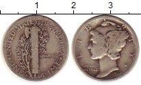Изображение Монеты Северная Америка США 1 дайм 1937 Серебро XF