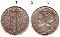 Изображение Монеты США 1 дайм 1945 Серебро XF