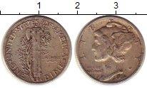 Изображение Монеты Северная Америка США 1 дайм 1936 Серебро XF