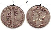 Изображение Монеты США 1 дайм 1941 Серебро XF