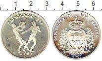Изображение Монеты Сан-Марино 1000 лир 1995 Серебро UNC