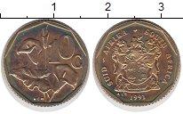 Изображение Мелочь ЮАР 10 центов 0 Латунь XF Цветок,Растения,Флор