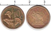 Изображение Монеты ЮАР 10 центов 1992 Латунь UNC-