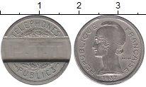 Изображение Мелочь Европа Франция Телефонный жетон 1937 Медно-никель XF+