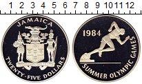 Изображение Монеты Северная Америка Ямайка 25 долларов 1984 Серебро Proof