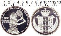 Изображение Монеты Ниуэ 100 долларов 1987 Серебро Proof