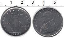 Изображение Монеты Европа Ватикан 100 лир 1962 Сталь UNC-