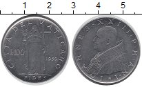 Изображение Монеты Ватикан 100 лир 1959 Сталь UNC-