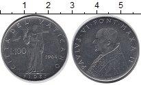 Изображение Монеты Европа Ватикан 100 лир 1964 Сталь UNC-
