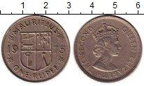 Изображение Монеты Маврикий 1 рупия 1975 Медно-никель XF Елизавета II,герб