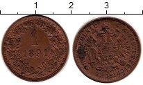 Изображение Монеты Австрия 1 крейцер 1891 Бронза XF