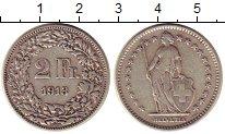 Изображение Монеты Швейцария 2 франка 1913 Серебро XF-