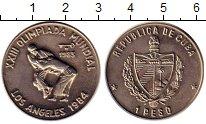 Изображение Монеты Куба 1 песо 1983 Медно-никель UNC- Олимпиада,борьба
