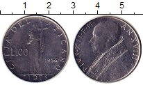 Изображение Монеты Европа Ватикан 100 лир 1956 Никель UNC-