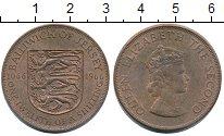 Изображение Монеты Остров Джерси 1/12 шиллинга 1966 Бронза XF+ 900 лет Норманским з