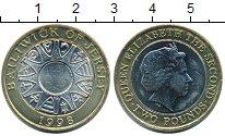 Изображение Монеты Великобритания Остров Джерси 2 фунта 1998 Биметалл UNC-