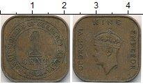 Изображение Монеты Малайя 1 цент 1940 Бронза XF-