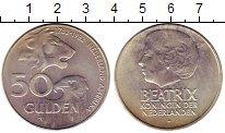 Изображение Монеты Европа Нидерланды 50 гульденов 1982 Серебро XF