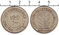 Изображение Монеты Палестина 100 милс 1935 Серебро XF Британский протектор