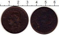 Изображение Монеты Южная Америка Аргентина 2 сентаво 1891 Бронза XF-