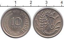 Изображение Монеты Азия Сингапур 10 центов 1970 Медно-никель UNC-