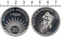 Изображение Монеты Южная Америка Аргентина 1 песо 2010 Серебро Proof