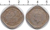 Изображение Монеты Азия Индия 2 анны 1940 Медно-никель XF