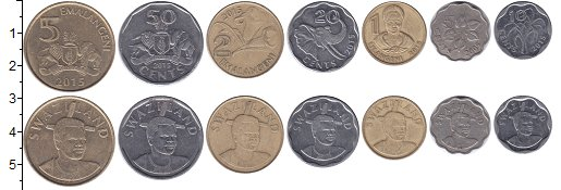 Изображение Наборы монет Африка Свазиленд Набор 2015 года 2015  XF-